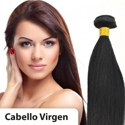 Extensiones cabello VIRGEN EN CORTINA 100% natural LISO REMY 80CM 95gr